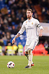 Real Madrid's Sergio Ramos during Copa del Rey match between Real Madrid and Celta de Vigo at Santiago Bernabeu Stadium in Madrid, Spain. January 18, 2017. (ALTERPHOTOS/BorjaB.Hojas)