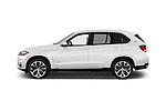 Car Driver side profile view of a 2017 BMW X5 xDrive40e 5 Door SUV Side View