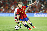 Spain's Andres Iniesta and Georgia's Chanturia during the up match between Spain and Georgia before the Uefa Euro 2016.  Jun 07,2016. (ALTERPHOTOS/Rodrigo Jimenez)