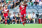Stockholm 2014-07-28 Fotboll Superettan Hammarby IF - Assyriska FF :  <br /> Assyriskas Kyle Konwea deppar<br /> (Foto: Kenta J&ouml;nsson) Nyckelord:  Superettan Tele2 Arena Hammarby HIF Bajen Assyriska AFF depp besviken besvikelse sorg ledsen deppig nedst&auml;md uppgiven sad disappointment disappointed dejected