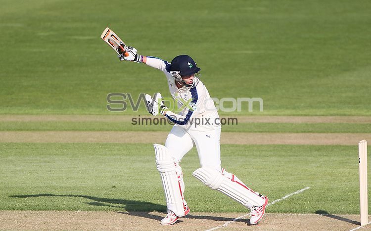 Picture by Alex Whitehead/SWpix.com - 07/04/2015 - Cricket - Yorkshire CCC v Leeds/Bradford MCCU - Day 1 - Headingley Stadium, Leeds, England - Yorkshire's Karl Carver hits out.