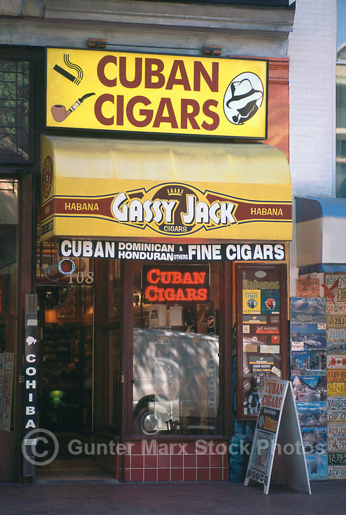 Gastown, Vancouver, BC, British Columbia, Canada - Cuban Cigar Store on Water Street