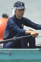 Beijing, CHINA, IRI, JW2X, bow Shadi BAHAMBARI and Nasim BENYAGHOUB SANI,, during the  2007. FISA Junior World Rowing Championships Shunyi Water Sports Complex. Wed. 08.08.2007  [Photo, Peter Spurrier/Intersport-images]..... , Rowing Course, Shun Yi Water Complex, Beijing, CHINA,