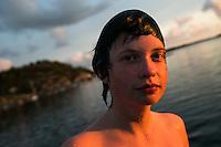 20140805 Vilda-l&auml;ger p&aring; Kragen&auml;s. Foto f&ouml;r Scoutshop.se<br /> scout, bada, kv&auml;ll, vatten, &ouml;