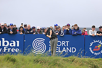 Cormac Sharvin (NIR) tees off the 18th tee during Saturday's Round 3 of the Dubai Duty Free Irish Open 2019, held at Lahinch Golf Club, Lahinch, Ireland. 6th July 2019.<br /> Picture: Eoin Clarke | Golffile<br /> <br /> <br /> All photos usage must carry mandatory copyright credit (© Golffile | Eoin Clarke)