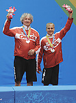 November 18 2011 - Guadalajara, Mexico:  Masoud Mojtahed and Ian Kent receiving their Silver Medal for the Men's Team C 6-8 in the CODE II Sports Complex at the 2011 Parapan American Games in Guadalajara, Mexico.  Photos: Matthew Murnaghan/Canadian Paralympic Committee