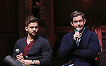 Neil Haskell and Rory O'Malley during a Q & A before the Gilder Lehman Institute of American History Education Matinee of 'Hamilton' at the Richard Rodgers  Theatre on December 15, 2016 in New York City.