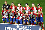 Atletico de Madrid's team photo with Jan Oblak, Gabi Fernandez, Filipe Luis, Tiago Mendes, Fernando Torres, Diego Godin, Oliver Torres, Antoine Griezmann, Juanfran Torres, Angel Correa and Jose Maria Gimenez during La Liga match. October 4,2015. (ALTERPHOTOS/Acero)