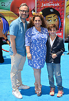 Marissa Jaret Winokur, Judah Miller &amp; Zev Isaac Miller at the world premiere for &quot;The Emoji Movie&quot; at the Regency Village Theatre, Westwood. Los Angeles, USA 23 July  2017<br /> Picture: Paul Smith/Featureflash/SilverHub 0208 004 5359 sales@silverhubmedia.com