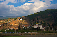 Late afternoon light at the Dzong (Fort) in Paro, Bhutan