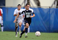 Florida International University men's soccer player Roberto De Sousa (20) plays against Stetson University on September 10, 2011 at Miami, Florida.  FIU won the game in overtime 3-2. .