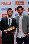 Lionel Messi Bota de Oro 2016/2017.<br /> Lionel Messi &amp; Luis Suarez.