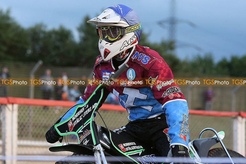 Heat 3: Peter Ljung of Lakeside prepares to race - Lakeside Hammers vs Birmingham Brummies - Elite League Knockout Cup at Arena Essex Raceway - 10/06/11 - MANDATORY CREDIT: Gavin Ellis/TGSPHOTO - Self billing applies where appropriate - Tel: 0845 094 6026