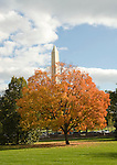 Washington DC USA: The Washington Monument and Fall Color, near the White House.Photo copyright Lee Foster Photo # 2-washdc75443