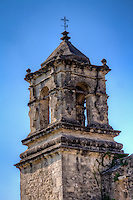 Bell tower at Mission San Hose at the San Antonio Missions National Historic Park.