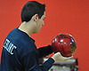 Matt LeBlanc of Hewlett gets ready to roll during a Nassau County boys bowling match against Seaford at Baldwin Lanes on Monday, Dec. 18, 2017.