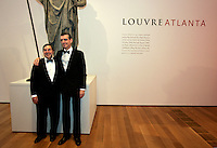 High Museum director Michael Shapiro (left) and Louvre director Henri Loyrette at the Anne Cox Chambers Wing of the High Museum of Art. Over the next three years, the High Museum will feature hundreds of works of art from the Musée de Louvre.