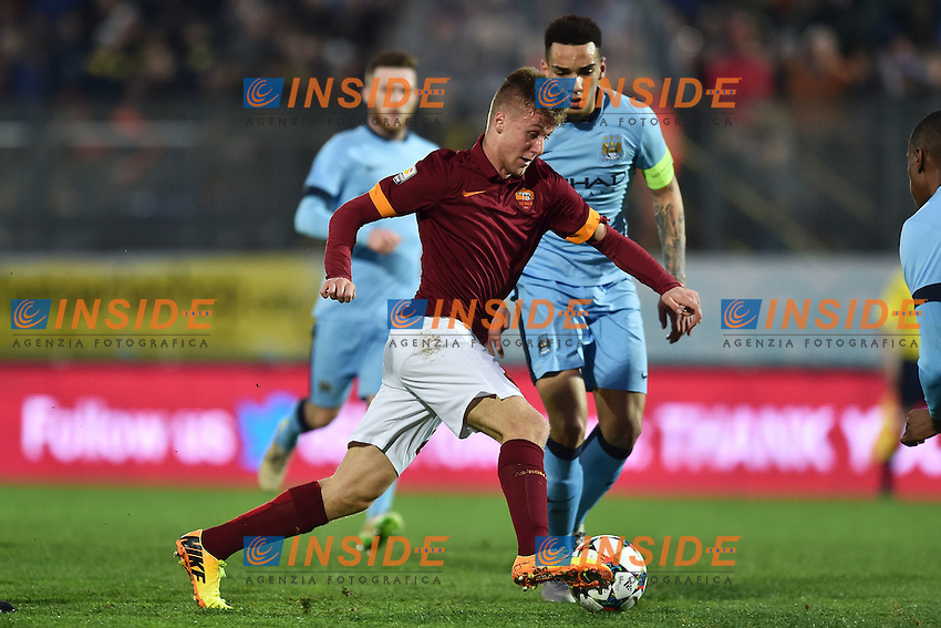 Christian D'Urso Roma, Kean Bryan Manchester City <br /> Latina 17-03-2015 Stadio Domenico Francioni Football Calcio Youth Champions League 2014/2015 AS Roma - Manchester City. Foto Andrea Staccioli / Insidefoto