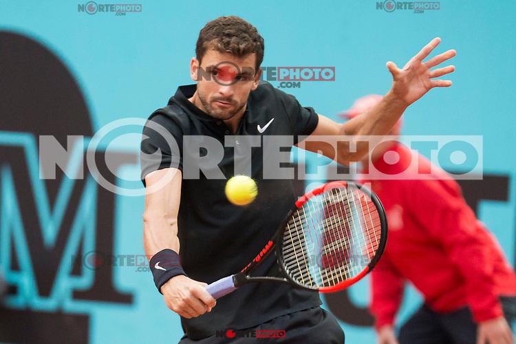 Bulgarian Grigor Dimitrov during Mutua Madrid Open Tennis 2017 at Caja Magica in Madrid, May 10, 2017. Spain.<br /> (ALTERPHOTOS/BorjaB.Hojas) /NortePhoto.com **NortePhoto.com
