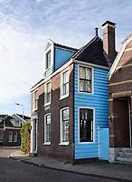 Nederland Zaandam 2018. Het Blauwe Huis. Het Koopmanshuis uit de zeventiende eeuw werd door de schilder Monet geschilderd.. Foto Berlinda van Dam / Hollandse Hoogte