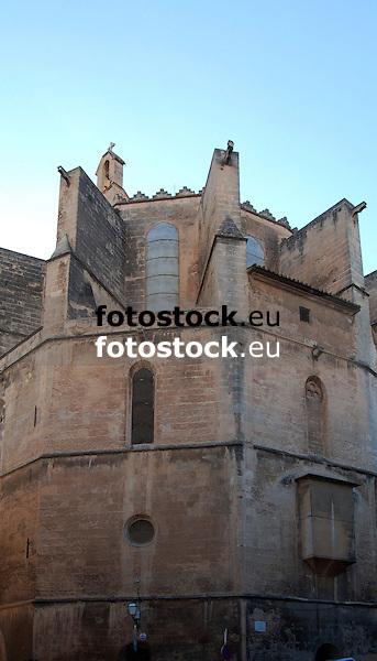 Parish church Santa Creu in Palma de Mallorca, Majorca, Spain<br /> Iglesia parroquial Santa Creu en Palma de Mallorca, Espa&ntilde;a<br /> Pfarrkirche Santa Creu in Palma de Mallorca, Spanien<br /> 2969x1698 px