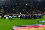 09.10.2019, Signal Iduna Park, Dortmund, GER, FSP, LS, Deutschland (GER) vs Argentinien (ARG)<br /> <br /> DFB REGULATIONS PROHIBIT ANY USE OF PHOTOGRAPHS AS IMAGE SEQUENCES AND/OR QUASI-VIDEO.<br /> <br /> im Bild / picture shows<br /> <br /> MAnnschaften kommen ins Stadion Musikcorps<br /> <br /> während Freundschaftsspiel  Deutschland gegen Argentinien   in Dortmund  am 09.10..2019,<br /> <br /> Foto © nordphoto / Kokenge