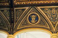 Europe/Italie/Emilie-Romagne/Bologne : Palais communal - Plafond de la salle de la Bourse