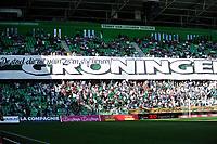 GRONINGEN - Voetbal, FC Groningen - FC Utrecht,  Eredivisie , Noordlease stadion, seizoen 2017-2018, 27-08-2017,   spandoek Groningen supporters
