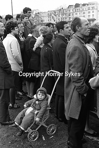 St Patricks Day Parade Hyde Park central London England 1970