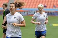Houston, TX - Saturday May 27, 2017: Megan Rapinoe warming up during a regular season National Women's Soccer League (NWSL) match between the Houston Dash and the Seattle Reign FC at BBVA Compass Stadium.