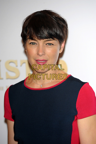 Olivia Williams<br /> The UK Premiere of 'Justin and the Knights of Valour' at May Fair Hotel, London, England. <br /> September 8th, 2013<br /> headshot portrait blue red    <br /> CAP/CJ<br /> &copy;Chris Joseph/Capital Pictures