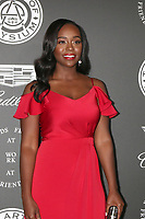 LOS ANGELES - JAN 6:  Aja Naomi King at the The Art of Elysium presents John Legend's HEAVEN at Barker Hanger on January 6, 2018 in Santa Monica, CA