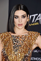 WESTWOOD, CA - FEBRUARY 05: Dua Lipa attends the Premiere Of 20th Century Fox's 'Alita: Battle Angel' at Westwood Regency Theater on February 05, 2019 in Los Angeles, California.<br /> CAP/ROT/TM<br /> &copy;TM/ROT/Capital Pictures
