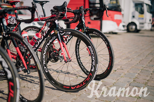 Team Cofidis bikes before the start<br /> <br /> 98th Brussels Cycling Classic 2018<br /> One Day Race:  Brussels > Brussels (201km)