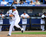 28 February 2011: New York Mets infielder Justin Turner in action during a Spring Training game against the Washington Nationals at Digital Domain Park in Port St. Lucie, Florida. The Nationals defeated the Mets 9-3 in Grapefruit League action. Mandatory Credit: Ed Wolfstein Photo