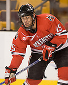 Ray Ortiz (NU - 15) - The Northeastern University Huskies defeated the Harvard University Crimson 3-1 in the Beanpot consolation game on Monday, February 12, 2007, at TD Banknorth Garden in Boston, Massachusetts.