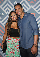 WEST HOLLYWOOD, CA - AUGUST 8: October Gonzalez, Tony Gonzalez, at 2017 Summer TCA Tour - Fox at Soho House in West Hollywood, California on August 8, 2017. <br /> CAP/MPI/FS<br /> &copy;FS/MPI/Capital Pictures