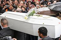 Les obseques du  chanteur nicois Dick Rivers a l'eglise Saint-Pierre de Montmartre a Paris.<br /> © URMAN/DALLE