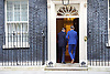 Rt Hon David Cameron Prime Minister welcomes Taavi Roivas Prime Minister of Estonia to Number 10 Downing Street, London, Great Britain <br /> 9th October 2015 <br /> <br /> Photograph by Elliott Franks <br /> Image licensed to Elliott Franks Photography Services
