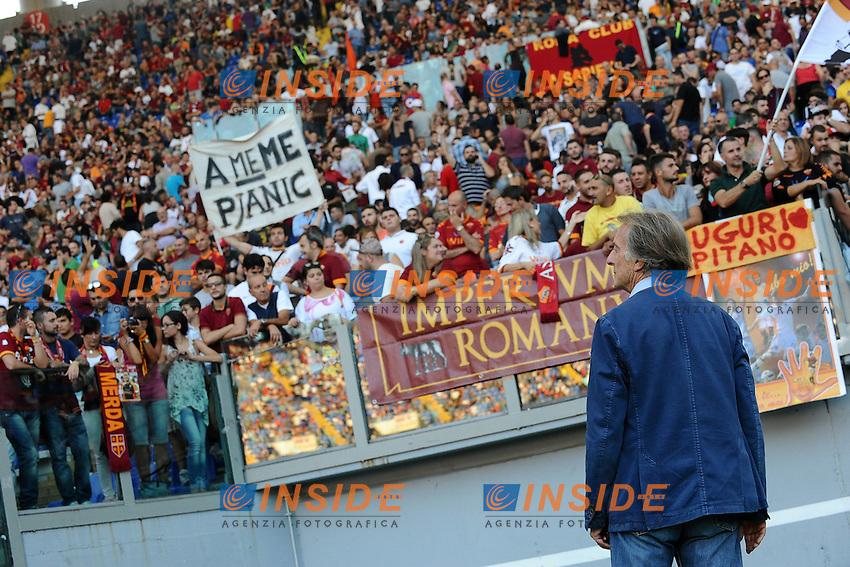 Luca Cordero di Montezemolo osserva la curva sud <br /> Roma 27-09-2014 Stadio Olimpico, Football Calcio Serie A AS Roma - Hellas Verona. Foto Andrea Staccioli / Insidefoto