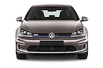 Car photography straight front view of a 2015 Volkswagen Golf GTE 5 Door Hatchback 2WD Front View