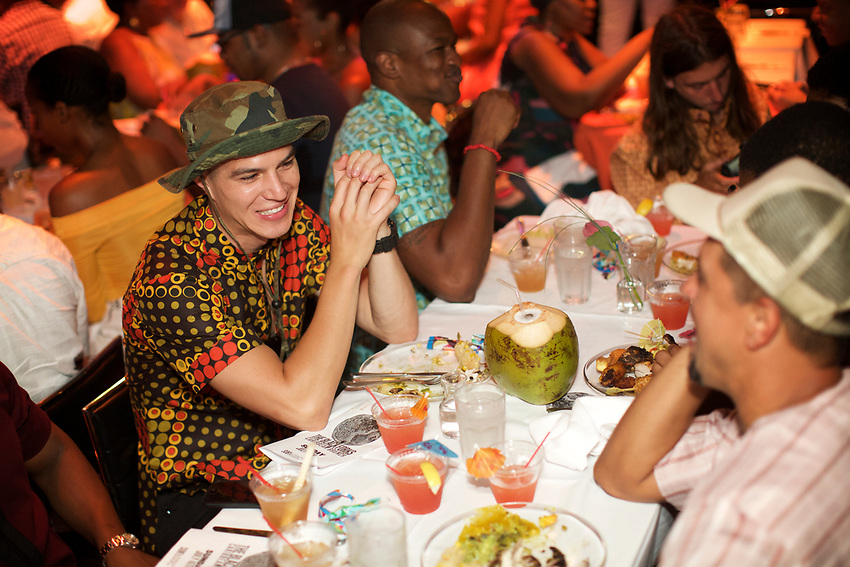NEW YORK, NY - July 16, 2017: A Caribbean Brunch Experience hosted by The Black Forks at SOB's, featuring food by Chef Andre Fowles of Miss Lily's.<br /> <br /> Credit: Clay Williams for The Black Forks.<br /> <br /> &copy; Clay Williams / http://claywilliamsphoto.com