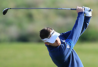 Garrick Porteous (ENG) on the 10th tee during Round 1 of the Challenge de Madrid, a Challenge  Tour event in El Encin Golf Club, Madrid on Wednesday 22nd April 2015.<br /> Picture:  Thos Caffrey / www.golffile.ie