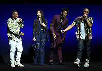 LAS VEGAS, NV - APRIL 23: (L-R) Actors Jason Mitchell, Lex Scott Davis, Trevor Jackson and Director X  onstage at the Sony Pictures Entertainment presentation at CinemaCon 2018 at The Colosseum at Caesars Palace on April 23, 2018 in Las Vegas, Nevada. (Photo by Frank Micelotta/PictureGroup)