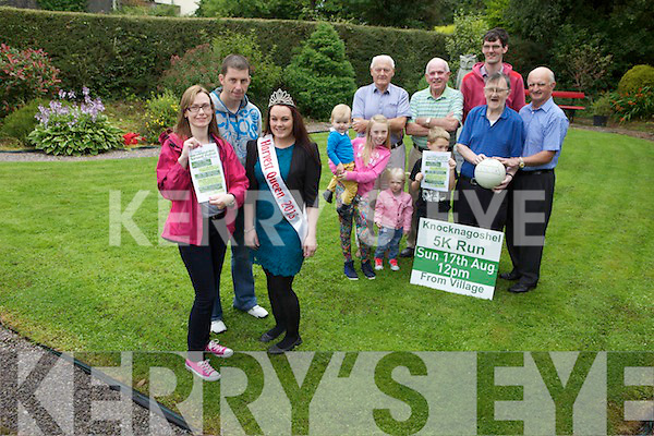 Preparations are well underway for the annual Knocknagoshel Harvest Festival taking place August 14th to 19th. Pictured were: Annamarie Curtin (Treasurer), Mike Murphy (Secretary of the GAA), Michelle Sugrue (Harvest Queen 2013), Conor Long, Shauna Curtin, Chloe Curtin, Jamie Curtin, Larry Hickey, Christy Brosnan, Kieran McAuliffe, Tom Greaney and Dan Neligan.