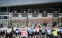 racing through the toll booths (without paying)<br /> <br /> 107th Scheldeprijs (1.HC)<br /> One day race from Terneuzen (NED) to Schoten (BEL): 202km<br /> <br /> ©kramon