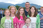 Ruth, Evelyn, Caoline,.Phelim, Keara.and Emily Glynn,.Castleisland, looking.for winners at.the Killarney.Races on Monday.