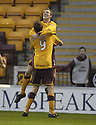 01/12/2007      Copyright Pic: James Stewart.File Name : sct_jspa02_motherwell_v_gretna.DAVID CLARKSON CELEBRATES WITH CHRIS PORTER AFTER HE SCORES MOTHERWELL'S FIRST.James Stewart Photo Agency 19 Carronlea Drive, Falkirk. FK2 8DN      Vat Reg No. 607 6932 25.Office     : +44 (0)1324 570906     .Mobile   : +44 (0)7721 416997.Fax         : +44 (0)1324 570906.E-mail  :  jim@jspa.co.uk.If you require further information then contact Jim Stewart on any of the numbers above.........