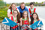 Intermediate School Killorglin rowers who won the WJ14 4xat the All Ireland Schools Championships in Limerick on Sunday front row l-r: Molly O'Grady, Anna Tyther and Mara Treacy, back: Rhiannon O'Donoghue, Mike Fleming and Donacha Ireland