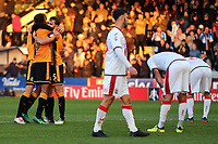 Cambridge celebrate victory during Cambridge United vs Sutton United , Emirates FA Cup Football at the Cambs Glass Stadium on 5th November 2017